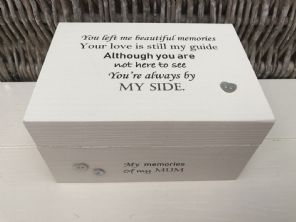 Personalised In Memory Of Box Loved One ~ MUM ~ MAM ~ any Name Bereavement Loss - 332624121457